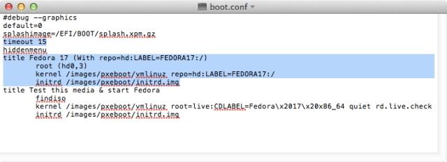 boot.conf File