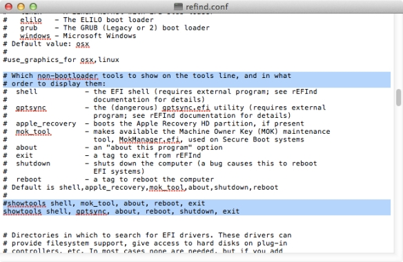 Howto: Install rEFInd on Mac machine or USB Stick/Hard Drive