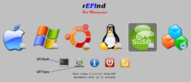 rEFInd Screen