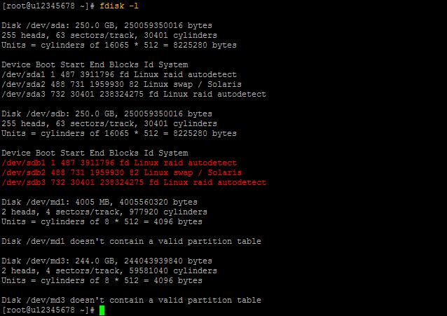 fdisk Output 02