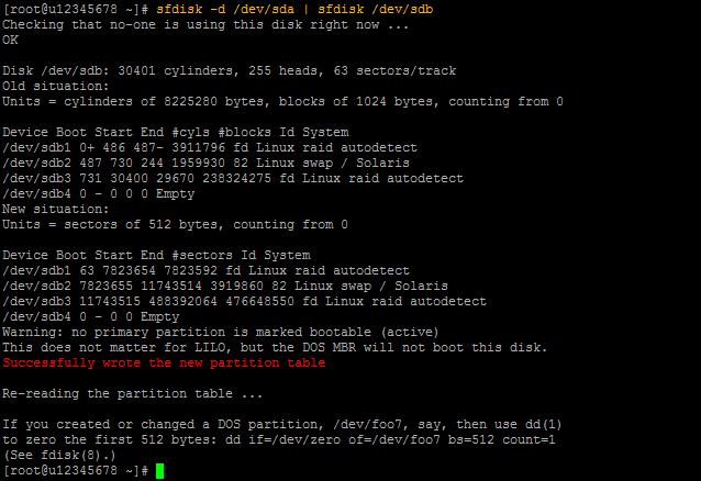 sfdisk Output 01